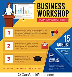 Business Training Workshop Announcement Poster - Business...