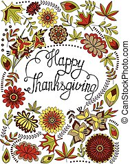greeting card happy thaksgiving - Vector greeting card happy...