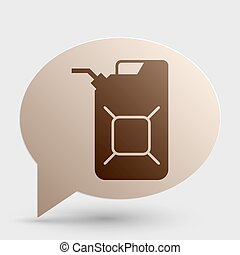 Jerrycan oil sign Jerry can oil sign Brown gradient icon on...