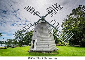 The Jonathan Young Windmill, in Orleans, Cape Cod, Massachusetts.