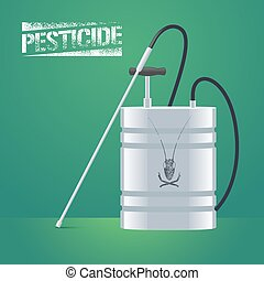 Pest insects control sprinkling equipment vector...