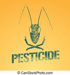 Pesticide vector logo, icon, symbol, emblem. Design element...