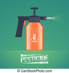 Pest insects control spray equipment vector illustration for...