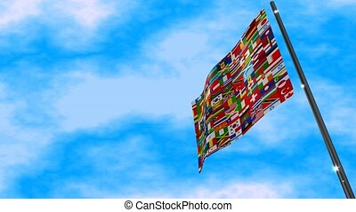 World Flag Animation - A motion graphic video animation of a...