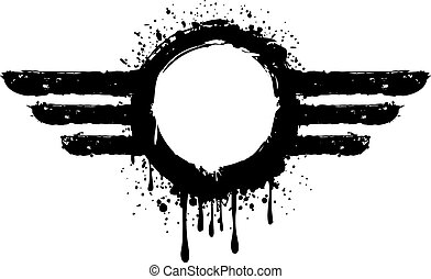 aviator symbol - Vector illustration abstract grunge aviator...