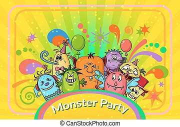 Cartoon Monsters Background - Background for Your Holiday...