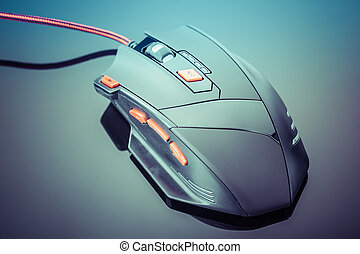 Sleek gaming mouse - a sleek modern gaming mouse with red...