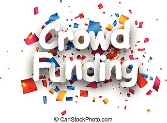 Crowd funding paper card - White crowd funding paper card...