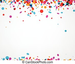 Background with color confetti. - Festive paper background...