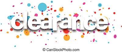 Clearance paper banner - Clearance paper banner with color...