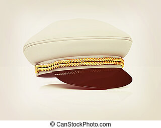 Marine cap 3D illustration Vintage style - Marine cap on a...