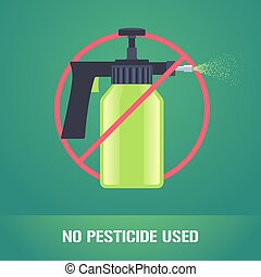 Pesticide spray in prohibition sign vector illustration...