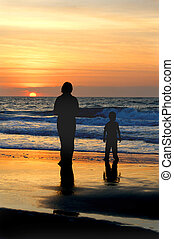 Mother and Son at the Ocean
