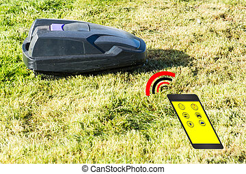 Automatic lawnmower control via smartphone - Lawnmower...