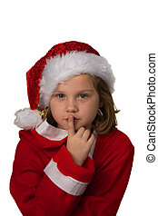 Child with Christmas gifts