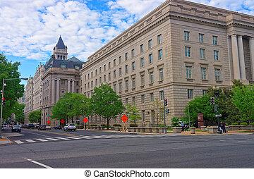 建物, サービス, 収入, ワシントン, DC, 内部