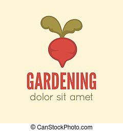 Garden center emblem or label, badge, logo designed element...