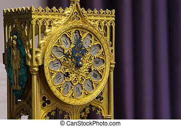 Mantel clock in gothic style - A mantel clock in gothic...