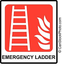 Fire ladder sign Vector emergency symbol