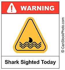 Illustration of a danger signal icon with a shark fin