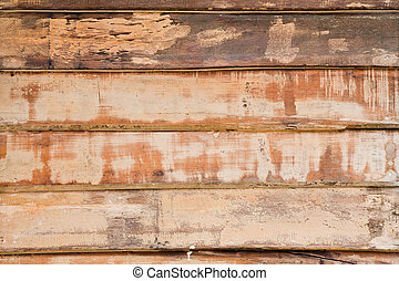 Old wood on wall for background and texture