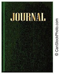 Journal Book Cover - A green front cover of a typical...