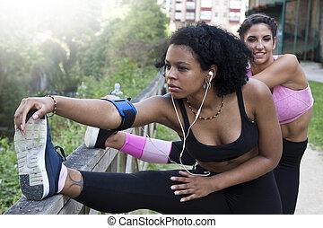 people doing outdoor sport