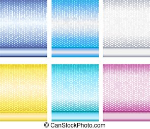 Set of luxury metallic shiny backgrounds