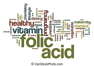 Folic acid word cloud concept