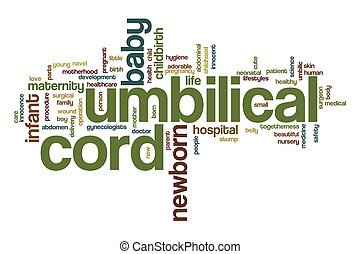 Umbilical cord word cloud concept