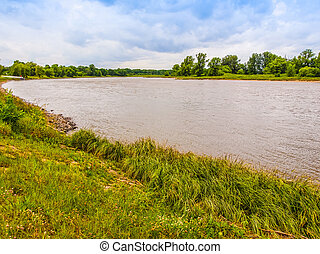 Elbe river HDR - High dynamic range HDR View of the Elbe...