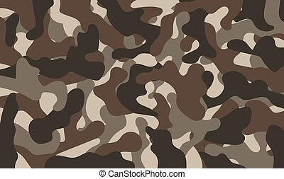 Army Camouflage Pattern Khaki Color. Vector Illustration....