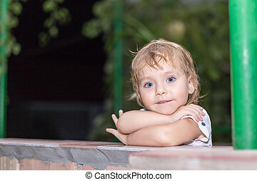 Portrait of a cute child