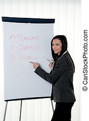 Coach flip chart in German Training and education