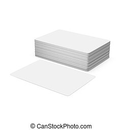 Business cards isolated on white background.