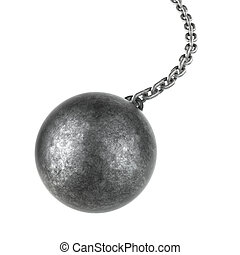 Wrecking ball isolated on a white background