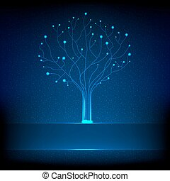Fibre optical tree