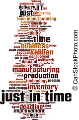 Just in time-vertical.eps - Just in time word cloud concept....
