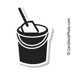 sand bucket isolated icon vector illustration, eps10