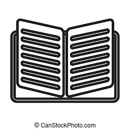 text book isolated icon vector illustration design