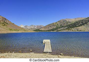 hermoso, alforja, lago