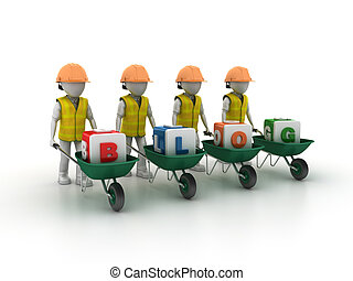 Characters with Wheelbarrows BLOG - Worker Characters with...