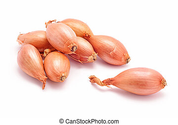 shallot onions isolated on white