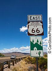 tracciato,  Arizona, ci,  66, segno