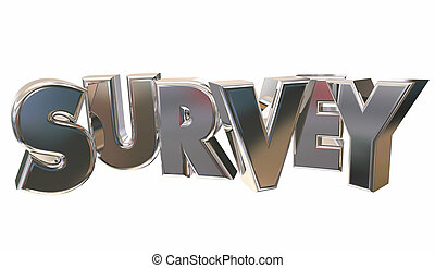Survey Poll Questions Answers Opinions Word 3d Illustration