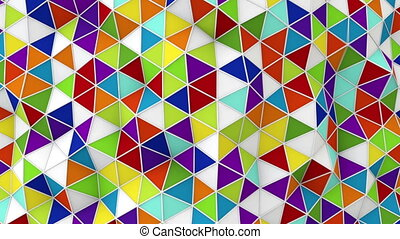 colorful 3D render polygonal loop - colorful 3D render...