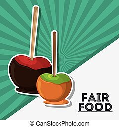 apple fair food snack carnival icon - apple fair food snack...