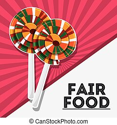 candy fair food snack carnival icon - candy fair food snack...