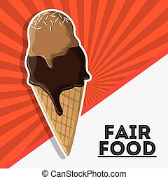 ice cream fair food snack carnival icon - ice cream fair...