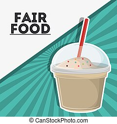 milk shake fair food snack carnival icon - milk shake fair...